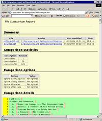HTML Report in Compare Suite