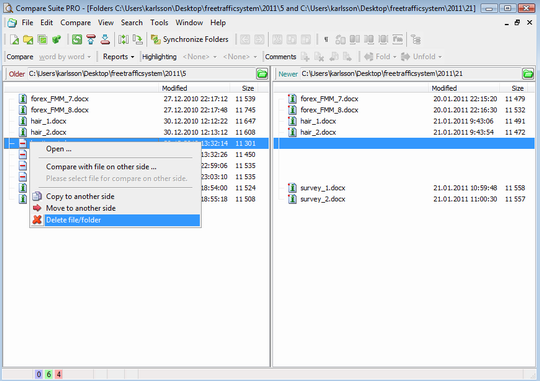 Compare Suite is a perfect tool to merge folders