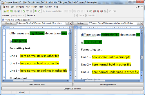 Compare MS Word documents without tracking changes on
