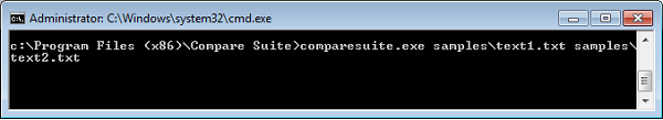 Compare two files or folders via command line