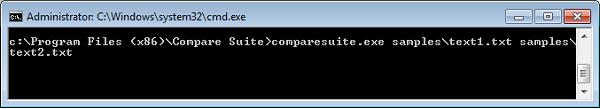 Compare two files or folders via command line