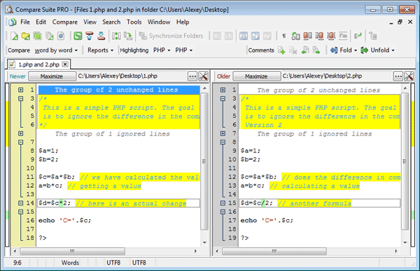 Compare Source Codes, XML, and HTML Files with Compare Suite